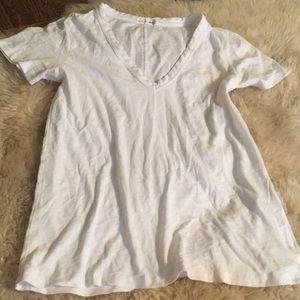 rag & bone white tee t shirt top v neck xs